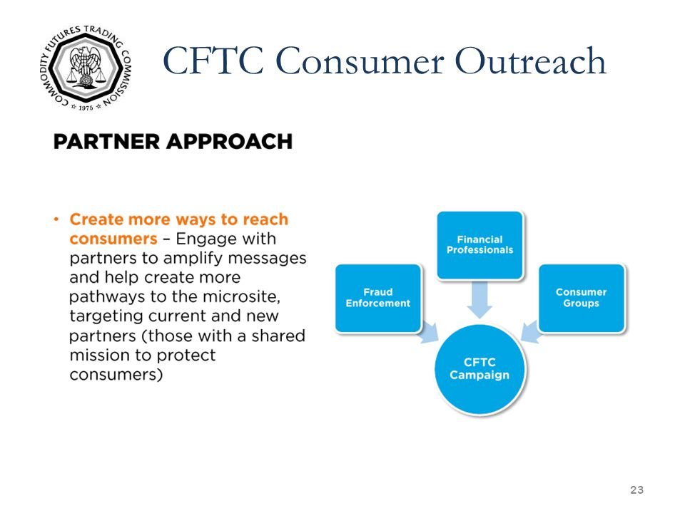 23 CFTC Consumer Outreach