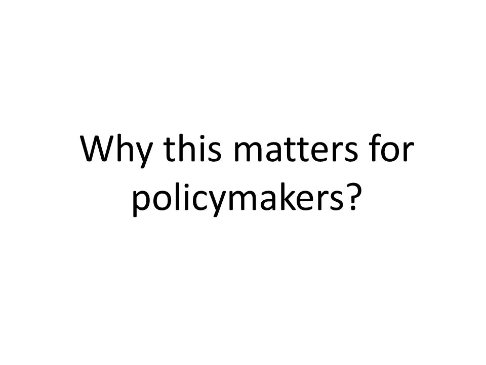 Why this matters for policymakers?