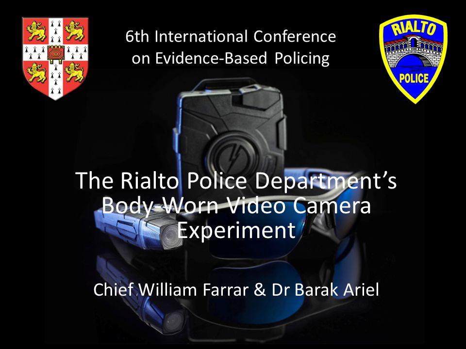 Cameras in Police Use 61% of police departments used video cameras in patrol cars in 2007 (U.S.