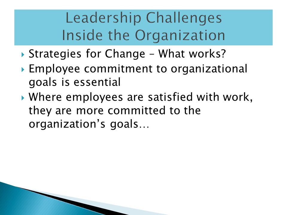  Strategies for Change – What works.