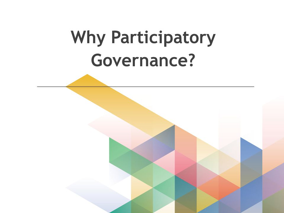 Why Participatory Governance