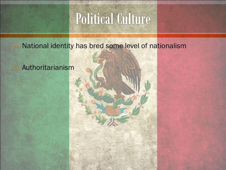  National identity has bred some level of nationalism  Authoritarianism