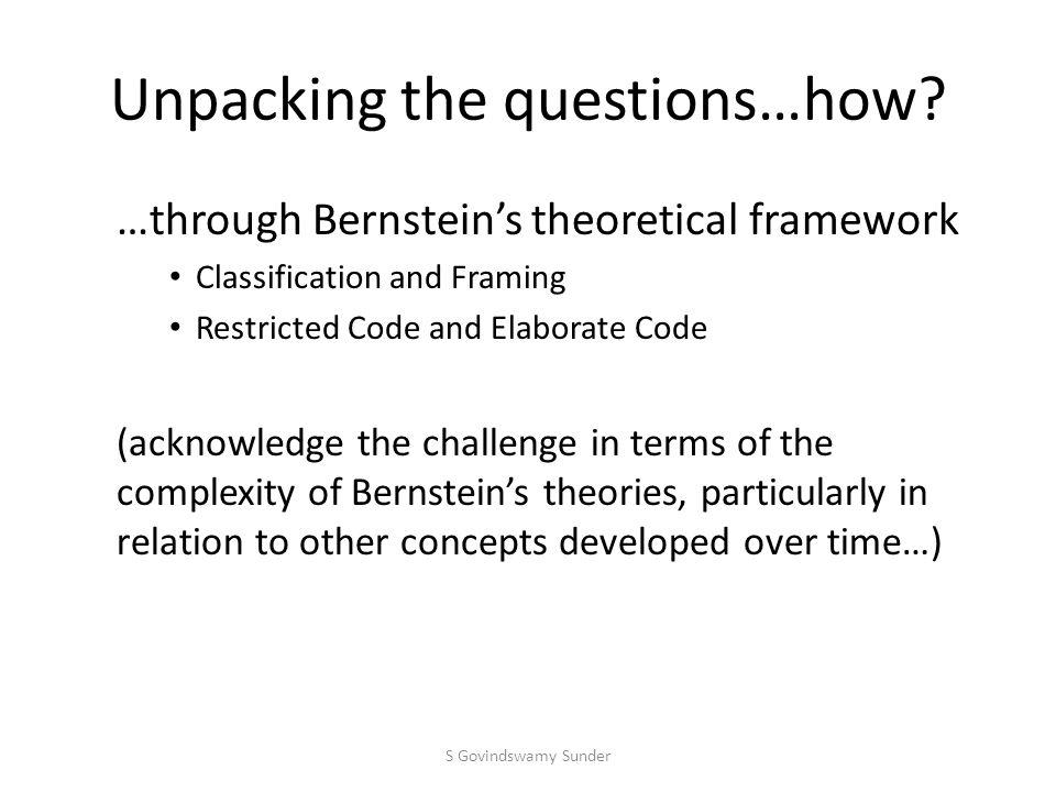 Why Bernstein.