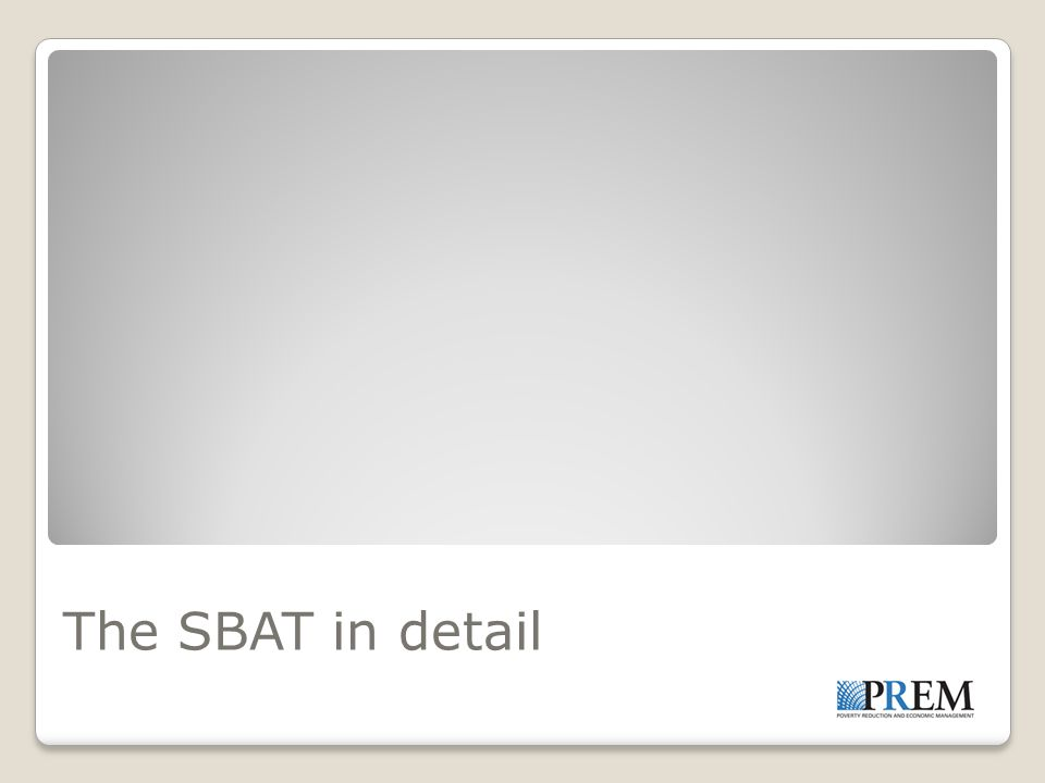 The SBAT in detail
