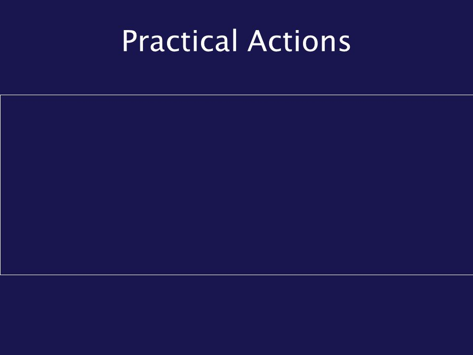 Practical Actions
