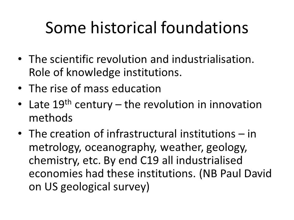 Some analytical foundations Collective invention.Time horizons and geographical spreads.