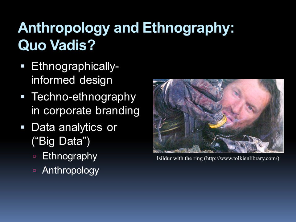 Anthropology and Ethnography: Quo Vadis.