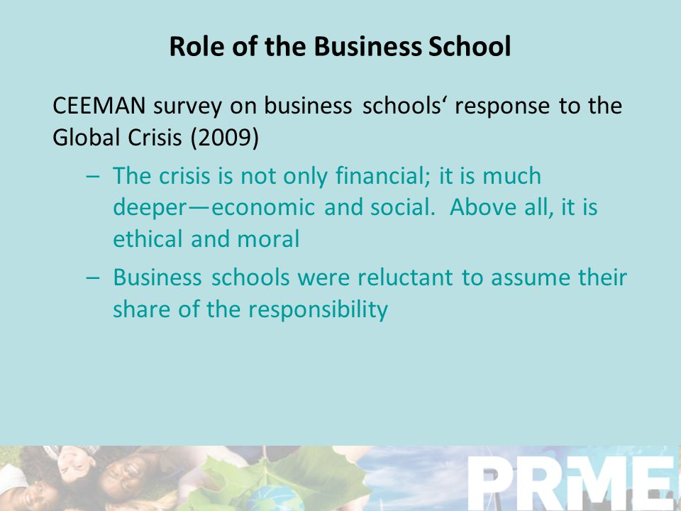 Role of the Business School… Do Universities have a responsibility to society.