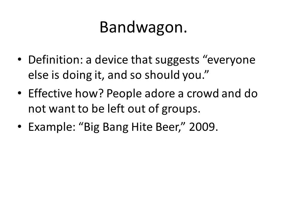 Bandwagon antidotes.What is this propagandist s program.