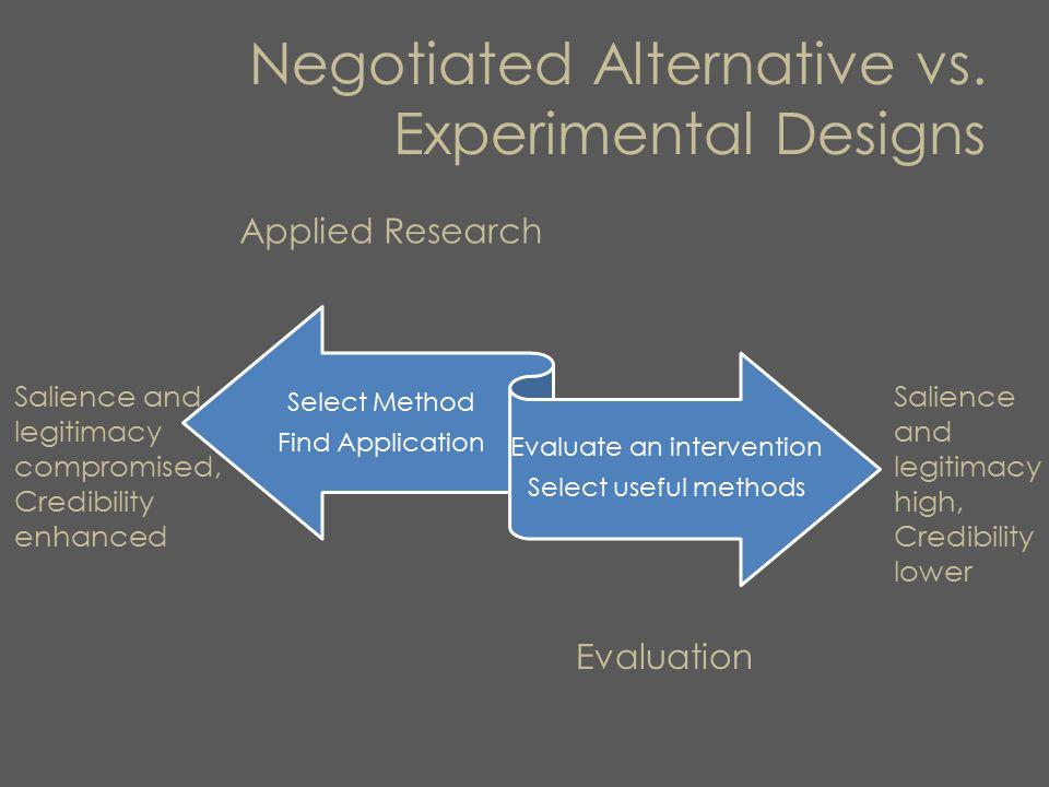 Negotiated Alternative vs.