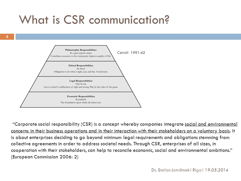 What is CSR communication.