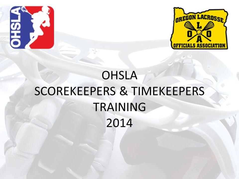 OHSLA SCOREKEEPERS & TIMEKEEPERS TRAINING 2014