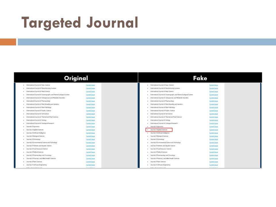 Targeted Journal OriginalFake