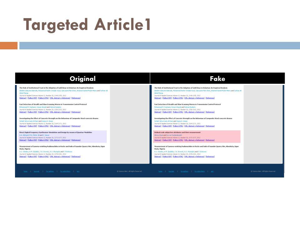 Targeted Article1 OriginalFake