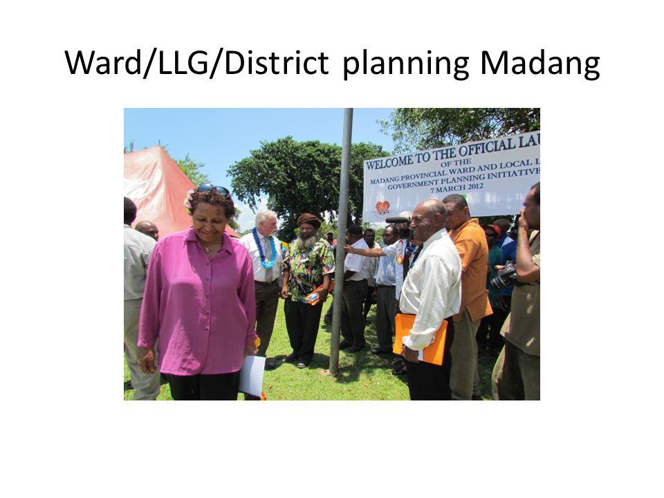 Ward/LLG/District planning Madang