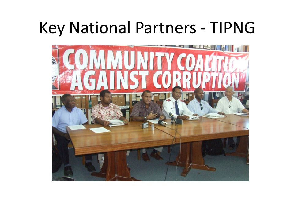 Key National Partners - TIPNG