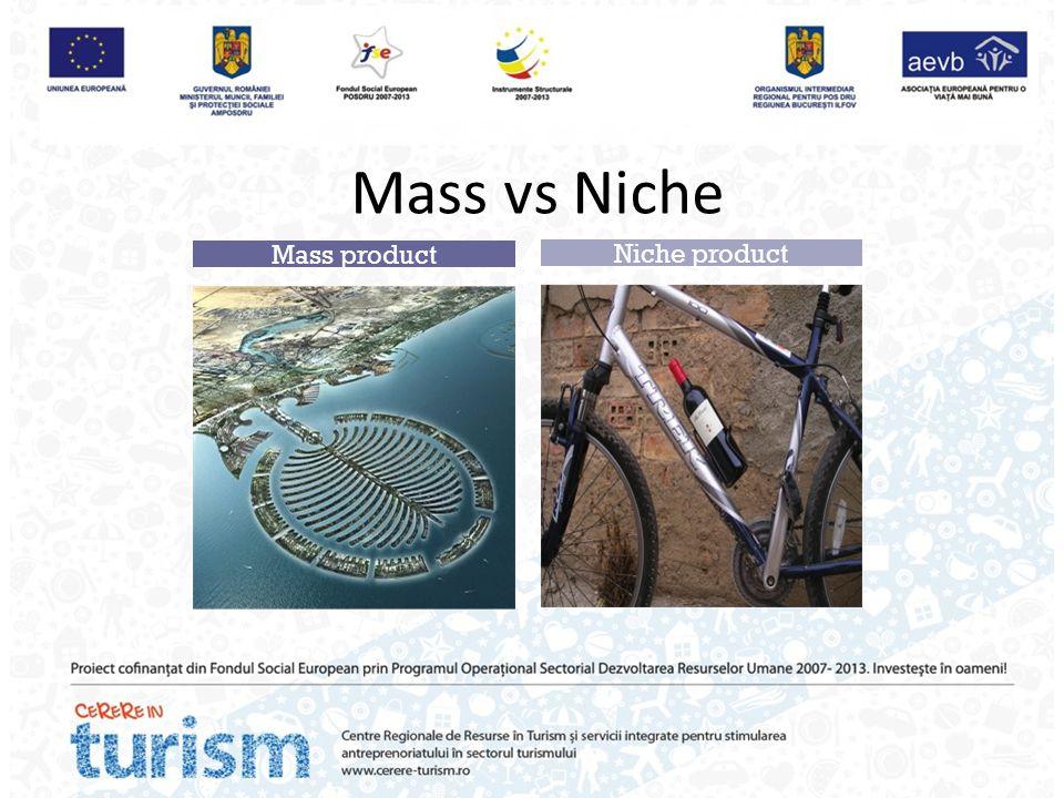 Mass vs Niche Mass product Niche product