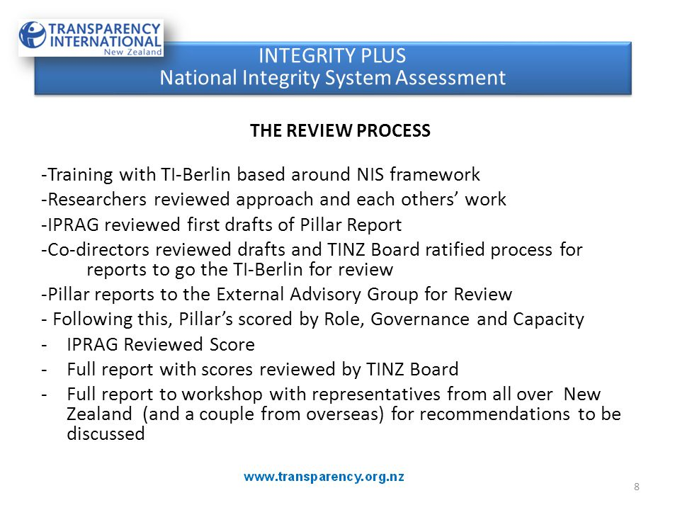 29 Objective: Keep New Zealand as Good as it's Perceived Objective: Keep New Zealand as Good as it's Perceived Why Strong Integrity Systems Matter Appreciate the strengths of our public sector.