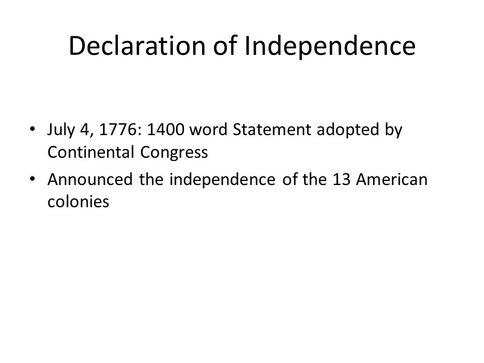 There were four main purposes of the Declaration of Independence: Getting reluctant colonists to realize that loyalty to Britain was a lost cause Explaining the Congress position on the purpose of human government Listing the colonists grievances against King George III to show the legitimacy of their actions to others (prove to world they are justified in their actions) To encourage foreign nations to help them