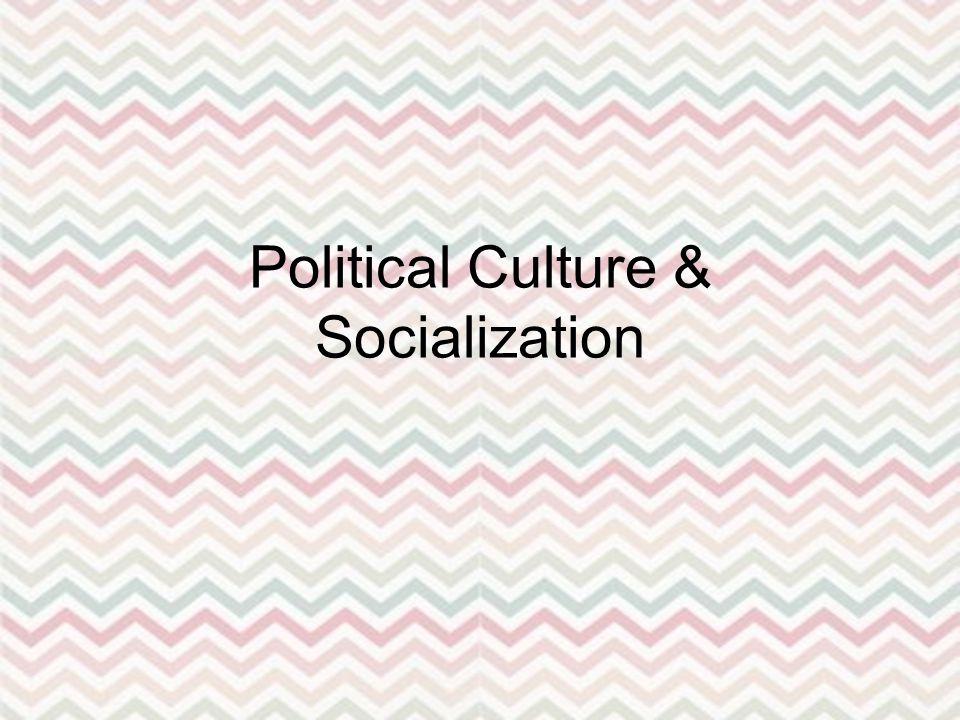 Political Culture & Socialization
