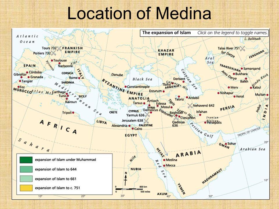 Location of Medina