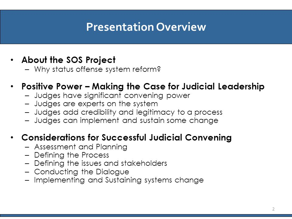 About the SOS Project – Why status offense system reform.