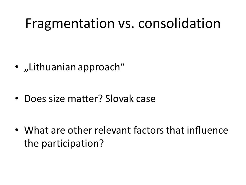 Legal framework Stages of Policy- Making Process Gramberger s (2001) Classification Tools Setting the policy agenda Information - obligatory publication (official communal panel) of communal board s program before its session - optional publication (communal broadcast, telecast, web-site, newspaper, etc.) of communal board s program before its meeting - publication of a report (minutes) of communal board s session Consultation - notices presented in the sessions of communal board (warnings and notices from the side of the deputies of communal board or mayor) - membership in various committees of communal board - involvement in the public opinion researches or opinion polls Active Participation - information call - meetings of citizens-voters with their deputies - proposals presented in the sessions of communal board or addressed to the mayor (complaints and other incentives from the side of communal residents) - residents petitions - residents demonstrative activities Formulating the policy Information - obligatory publication of communal board s program before its session - publication of a report (minutes) of a session of communal board (including presented proposals and counter proposals)