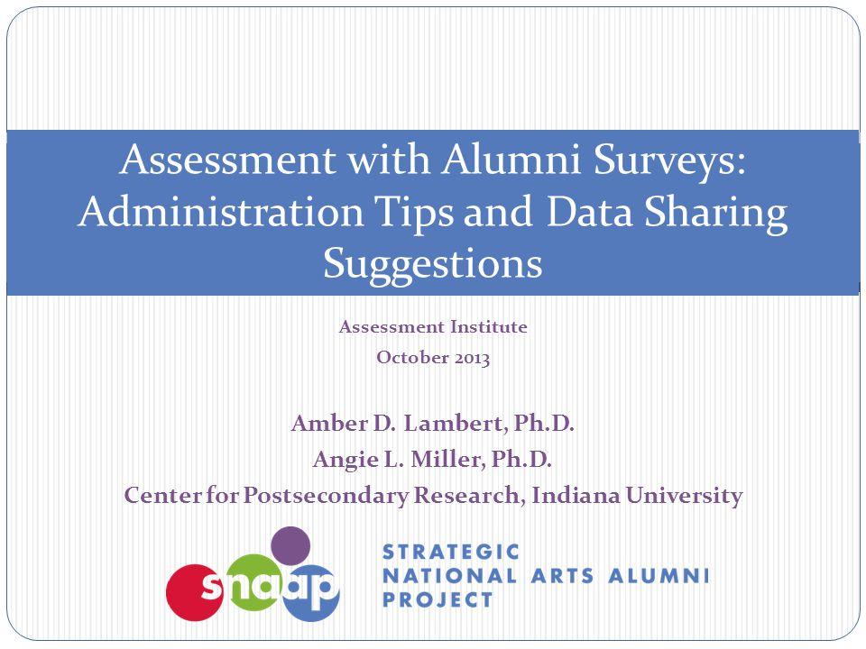 Assessment Institute October 2013 Amber D. Lambert, Ph.D.