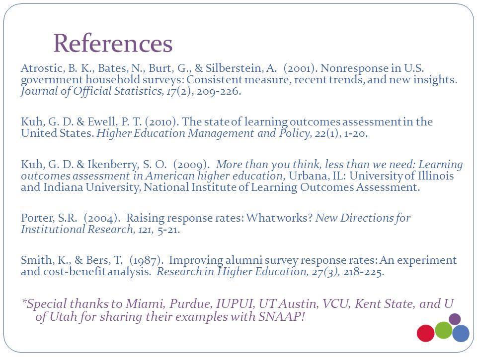 References Atrostic, B. K., Bates, N., Burt, G., & Silberstein, A.