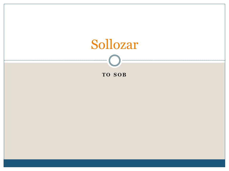 TO SOB Sollozar