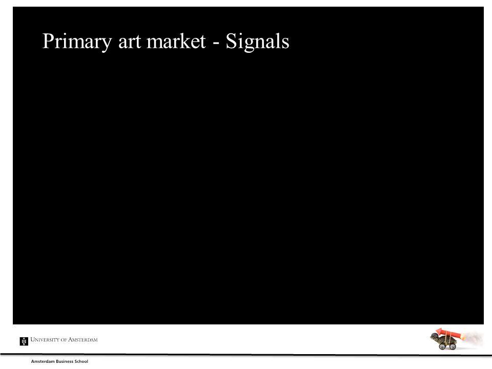 Primary art market - Signals