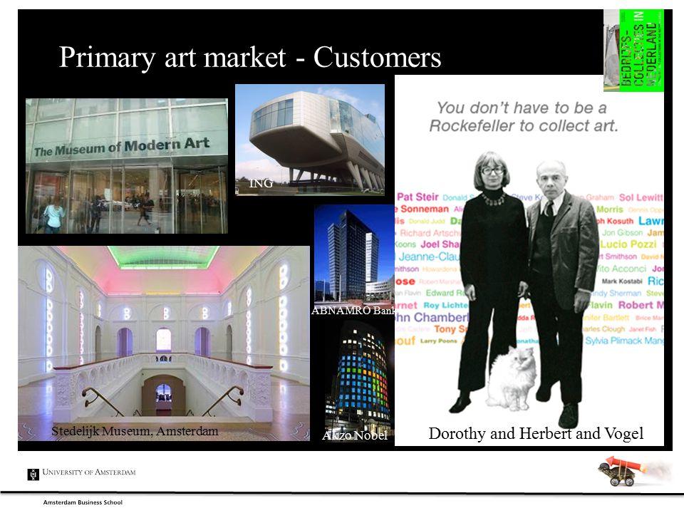 Primary art market - Customers Stedelijk Museum, Amsterdam ABNAMRO Bank Akzo Nobel Dorothy and Herbert and Vogel ING