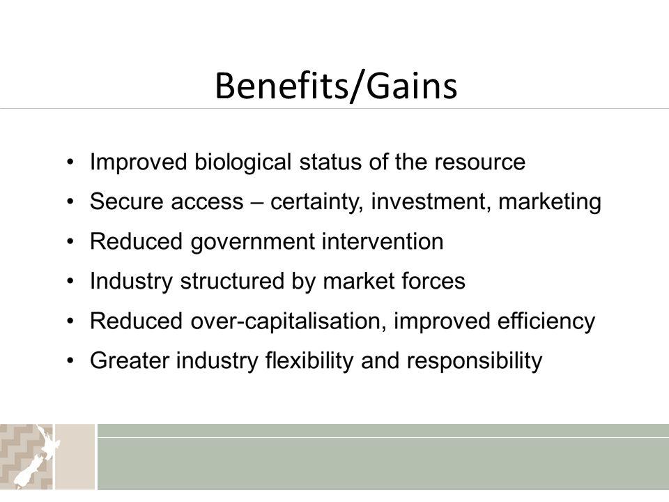 Benefits/Gains