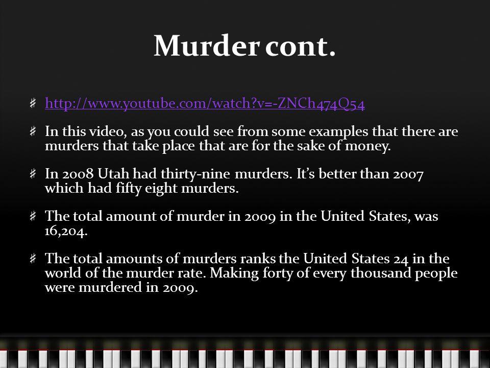 Murder cont.