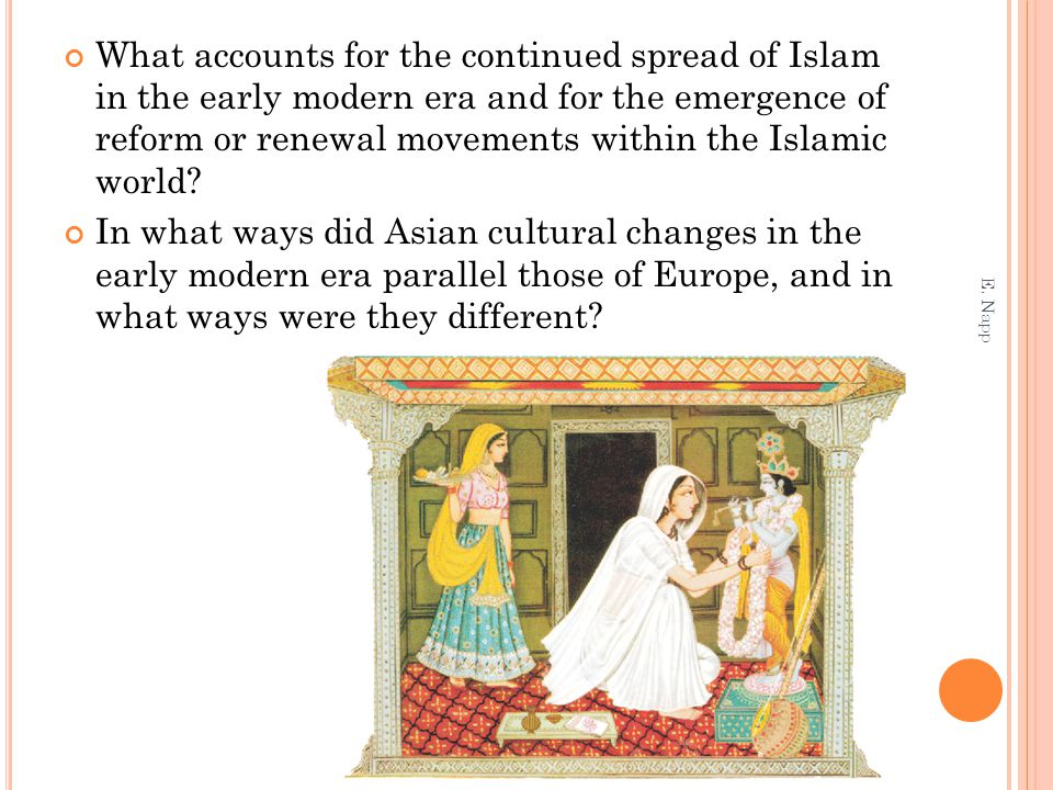 What accounts for the continued spread of Islam in the early modern era and for the emergence of reform or renewal movements within the Islamic world.
