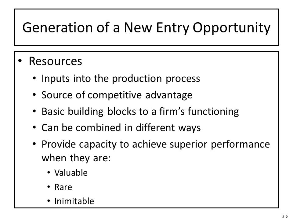 3-17 Entry Strategy for New Entry Exploitation Creating a frame of reference for potential customers Educating customers through demonstration and documentation Lead time and first-mover (dis)advantages Lead time Grace period in which the first mover operates in the industry under conditions of limited competition