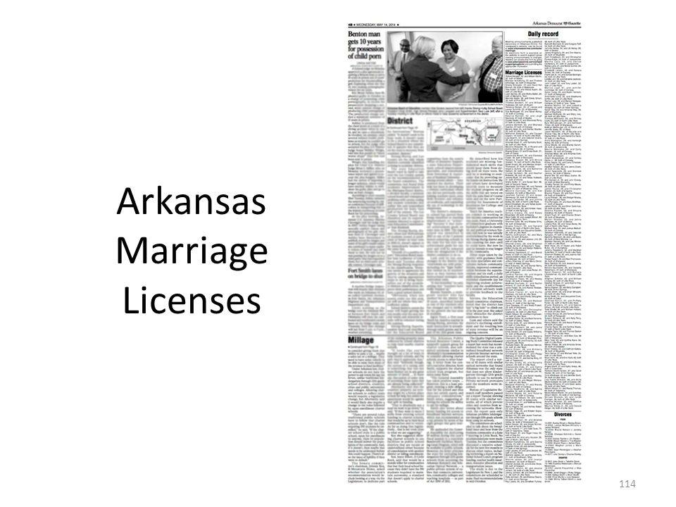 Arkansas Marriage Licenses 114