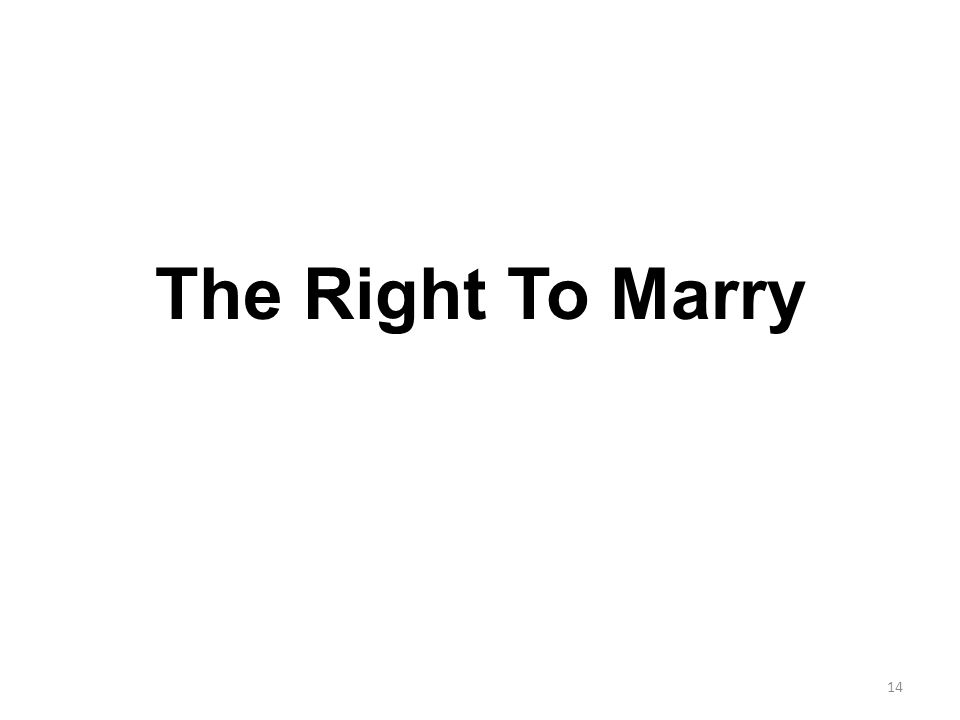 The Right To Marry 14