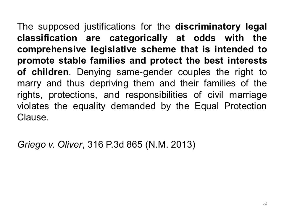 The supposed justifications for the discriminatory legal classification are categorically at odds with the comprehensive legislative scheme that is intended to promote stable families and protect the best interests of children.