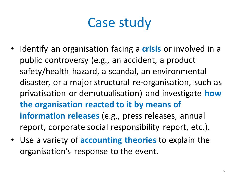 Aspects to think about What is a crisis.