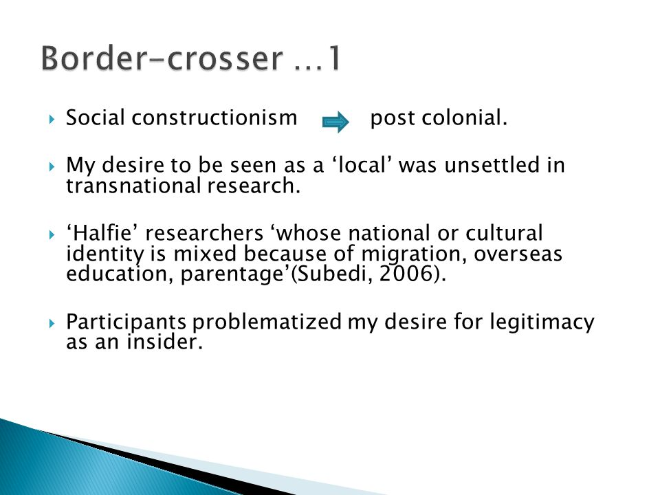  Social constructionism post colonial.