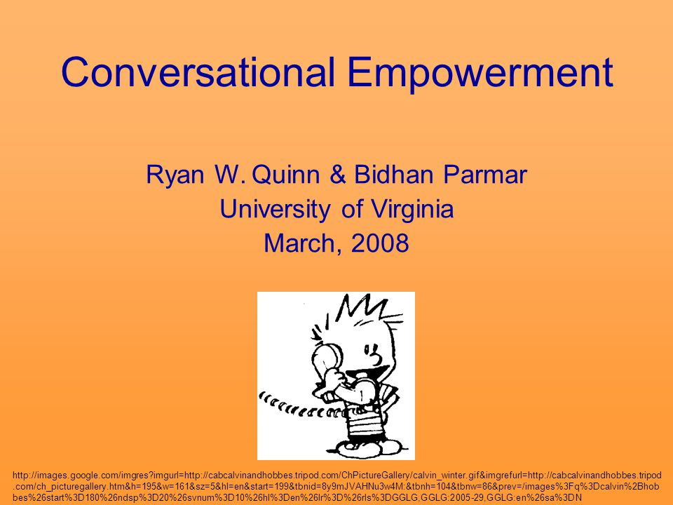 Conversational Empowerment Ryan W.