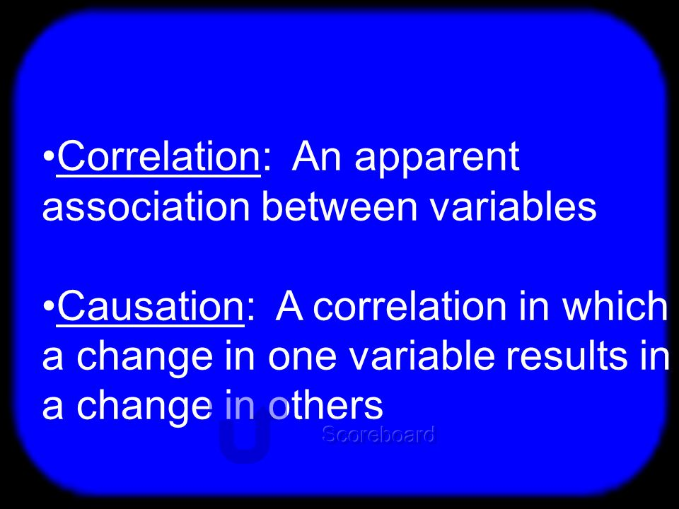 T Difference: Correlation and Causation