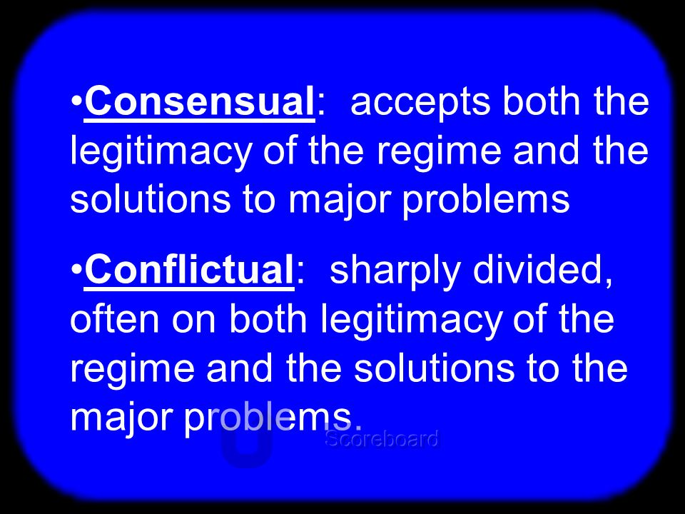 T Difference: Consensual & Conflictual Political Culture