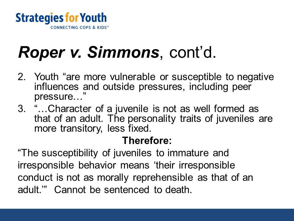 Roper v. Simmons, cont'd.