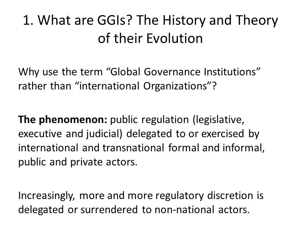 1. What are GGIs.