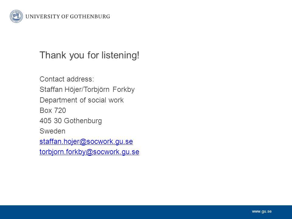 www.gu.se Thank you for listening.