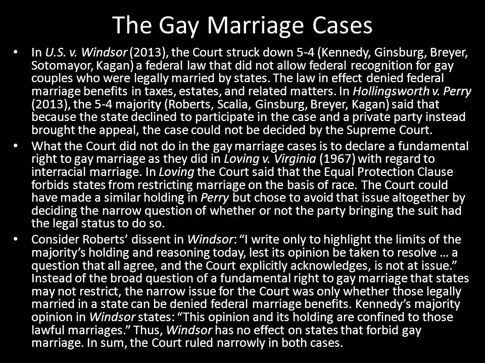 The Gay Marriage Cases In U.S. v.