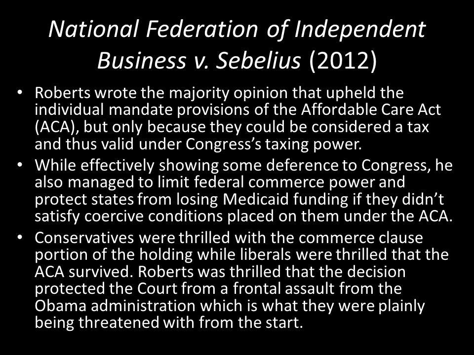 National Federation of Independent Business v.