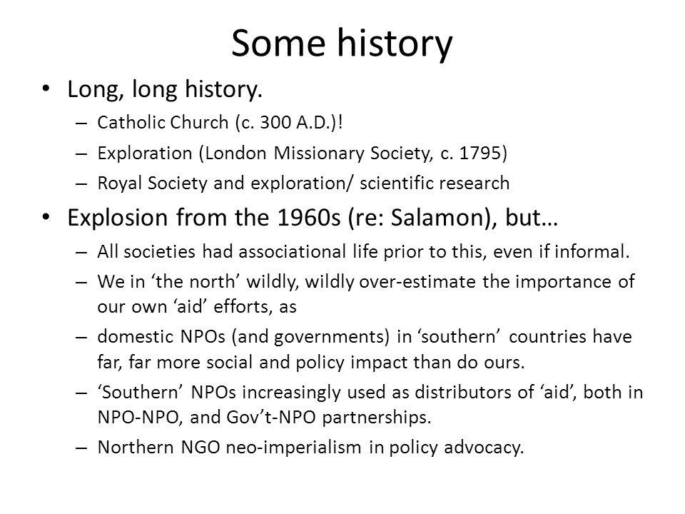 Some history Long, long history. – Catholic Church (c.